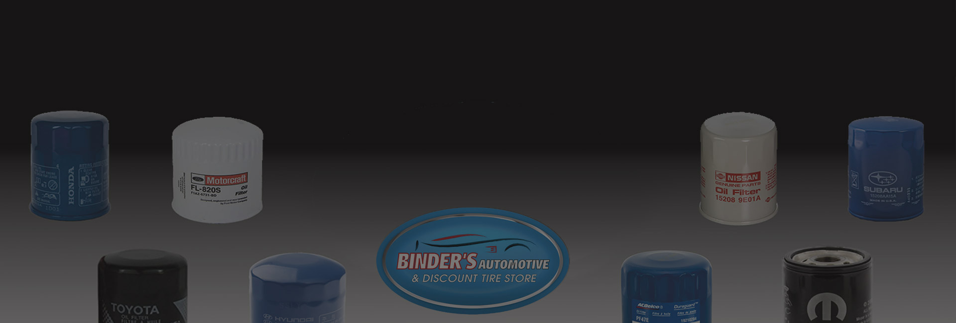 Binders Auto Logo With Oil Filters